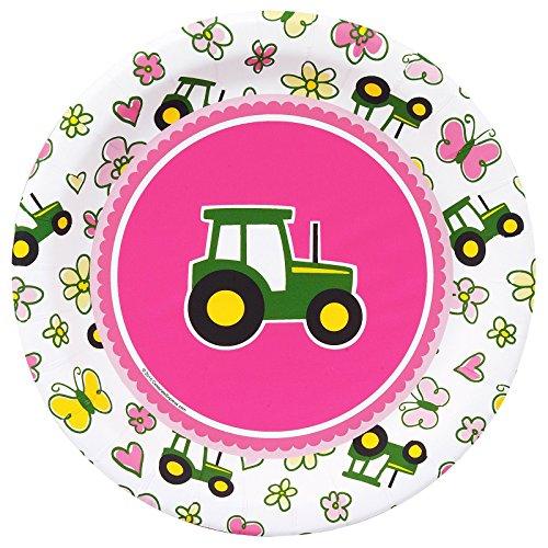 Birthday Express (non-pod Tablewar Party Destination 234013 John Deere Pink Dessert Plates -