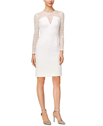 f3f77194 Calvin Klein Womens Illusion Knee-Length Scuba Dress at Amazon Women's  Clothing store: