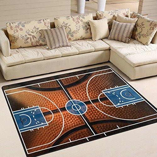 ALAZA Basketball Print Court Sport Area Rug Rugs for Living Room Bedroom 5