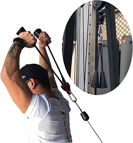 Triceps Rope Push Up Pull Down Press Gym Cable Attachment Fitness Body Building