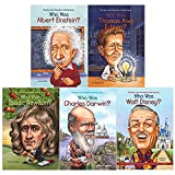 img - for Who was books collection 5 books set (albert einstein, alva edison, isaac newton, charles darwin, walt disney) book / textbook / text book