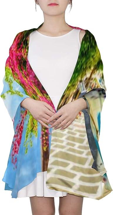Clest F/&H Bufandas florales bronceadoras ligeras bufanda protector solar chales para mujer