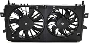 Cooling Fan Assembly for PONTIAC GRAND PRIX 2005-2008/IMPALA 2006-2013/IMPALA LIMITED 2014-2016 Dual