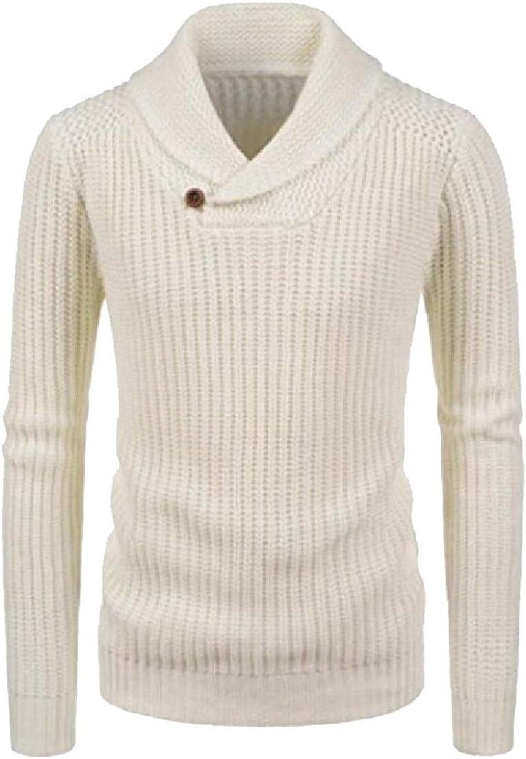WSPLYSPJY Mens Mock Turtle Neck Knitwear Pullover Long Sleeve Top Jumper Sweaters