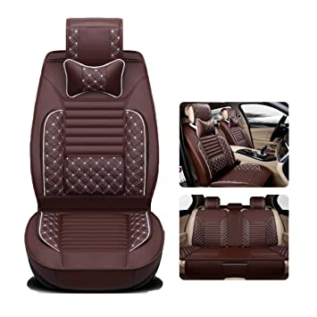 Car Seat Covers Full Set w// Neck pillow*2 Lumbar pillow*2 Front /& Rear Full Set