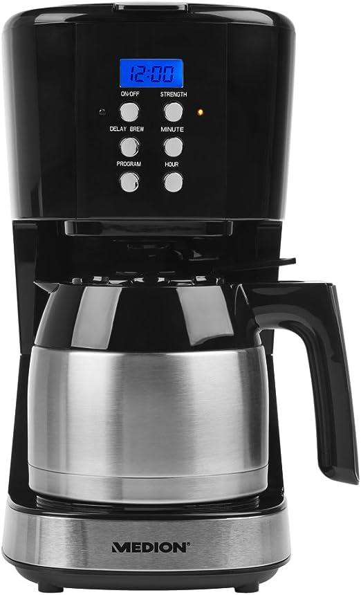 Medion MD 18088 Cafetera con Recipiente térmico, 900 W, 1 Liter ...