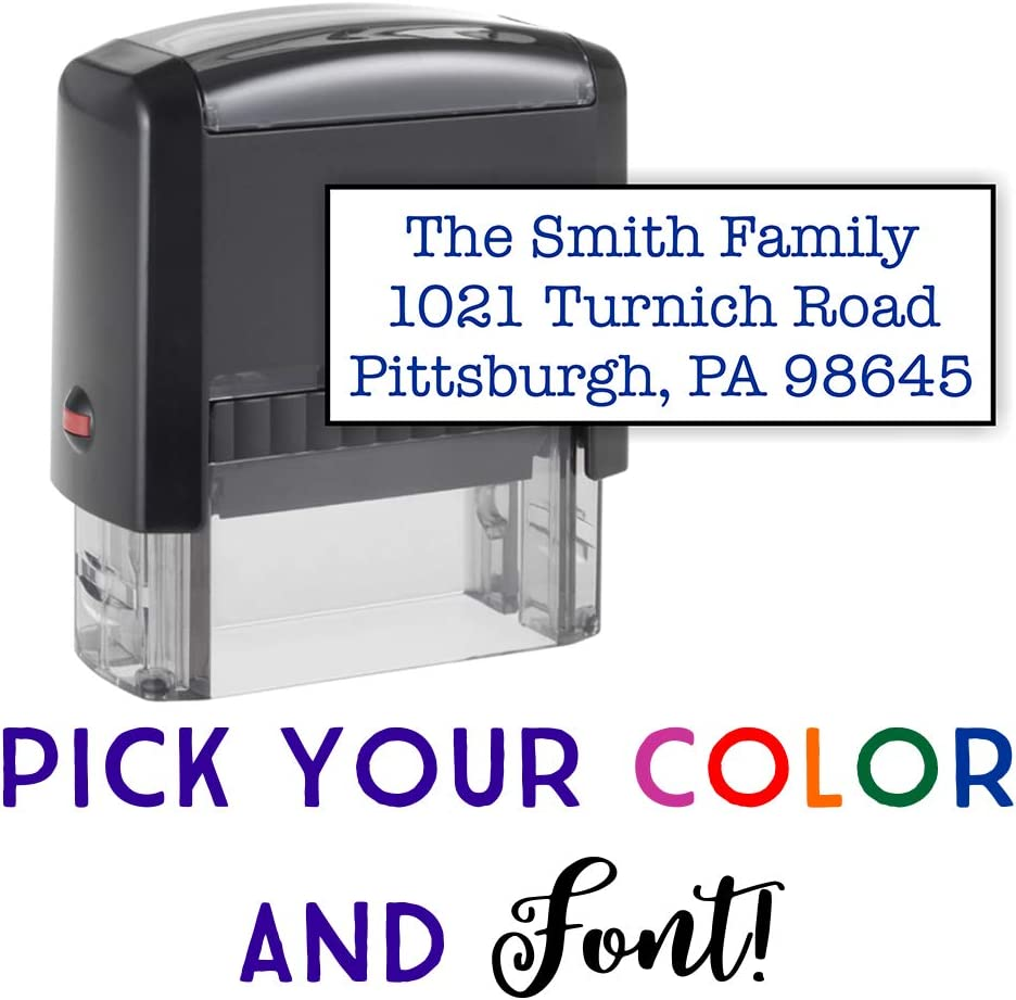 Personalised Rubber Stamp Self Inking Name//Business Address//Garage//School Etc
