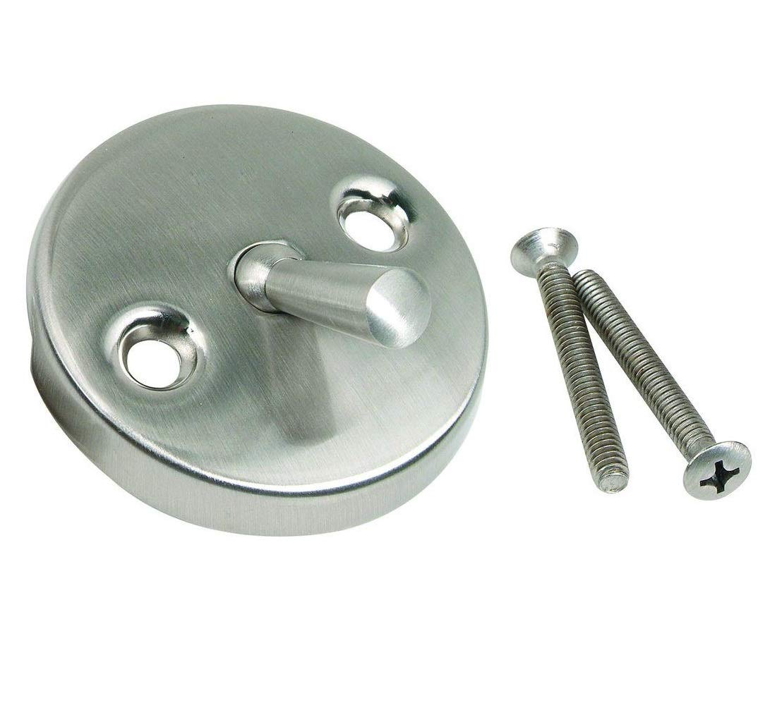 Westbrass 3-1/8'' Two-Hole Trip Lever Overflow Face Plate and Screws, Stainless Steel, D330-20