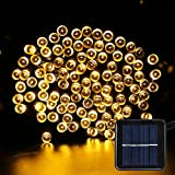Solar Fairy String lights - NOSIVA Solar Garden Lights 200 LED 8 Modes 22 Meters Outdoor Waterproof Decorative Lights for Christmas, Home, Garden, Wedding, Party ( Warm White)