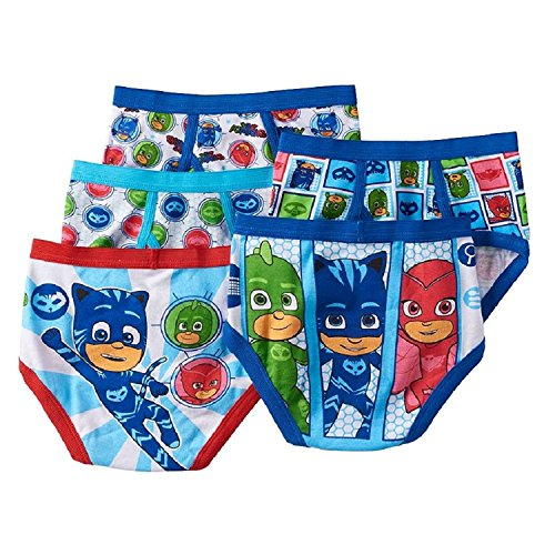 PJ Masks Gekko, Catboy & Owlette 5-Pack Boys Briefs (4) (Socks Underwear And)