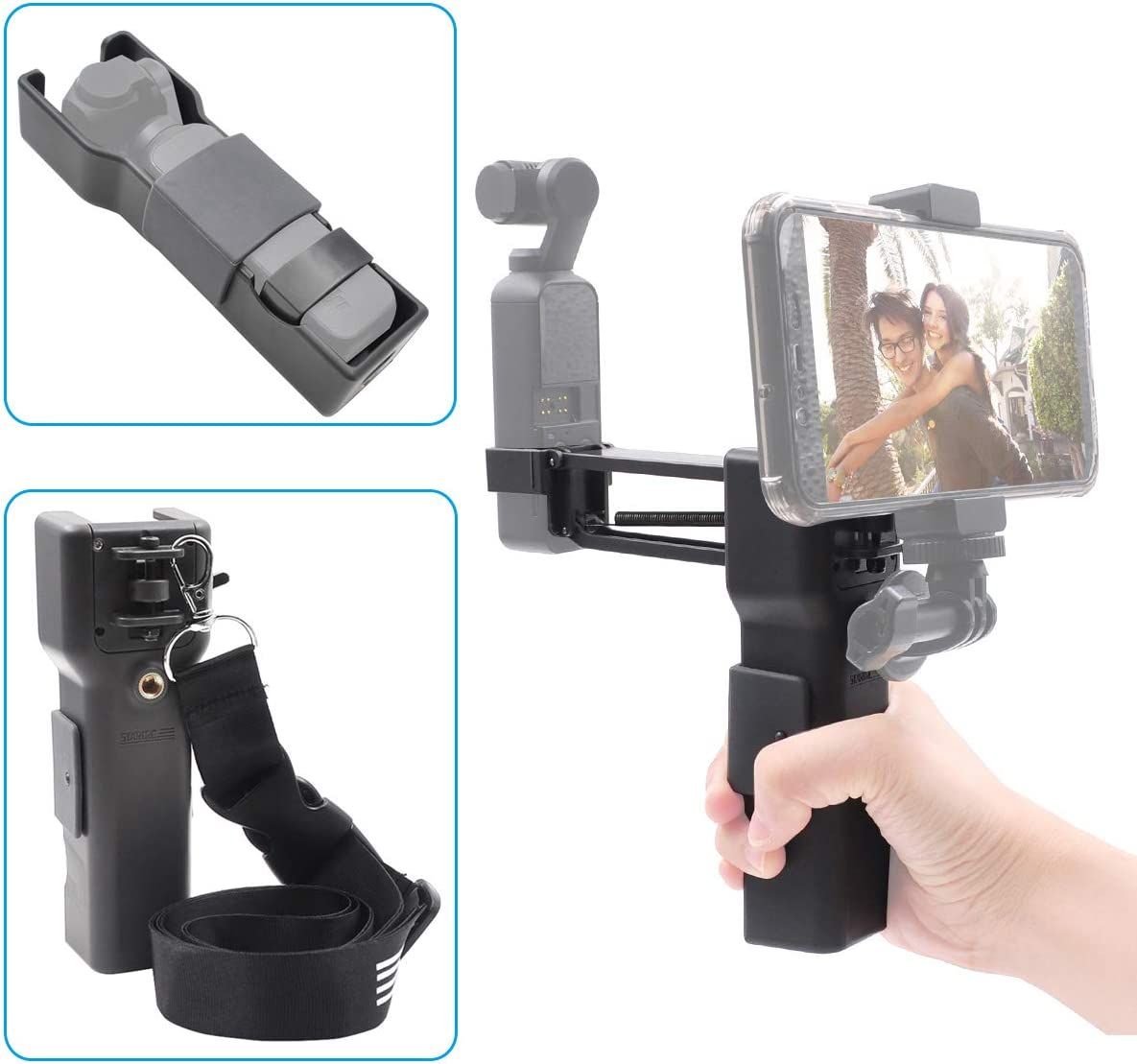 Black Pena Camera Stabilizer Gimbal Stand Shock Absorber Z Axis Photography for OSMO Pocket