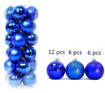 Christbaumkugeln Kunststoff Blau.Beauty 4cm 24 Stück Blau Weihnachtsdekoration Ball Dekoration Ball