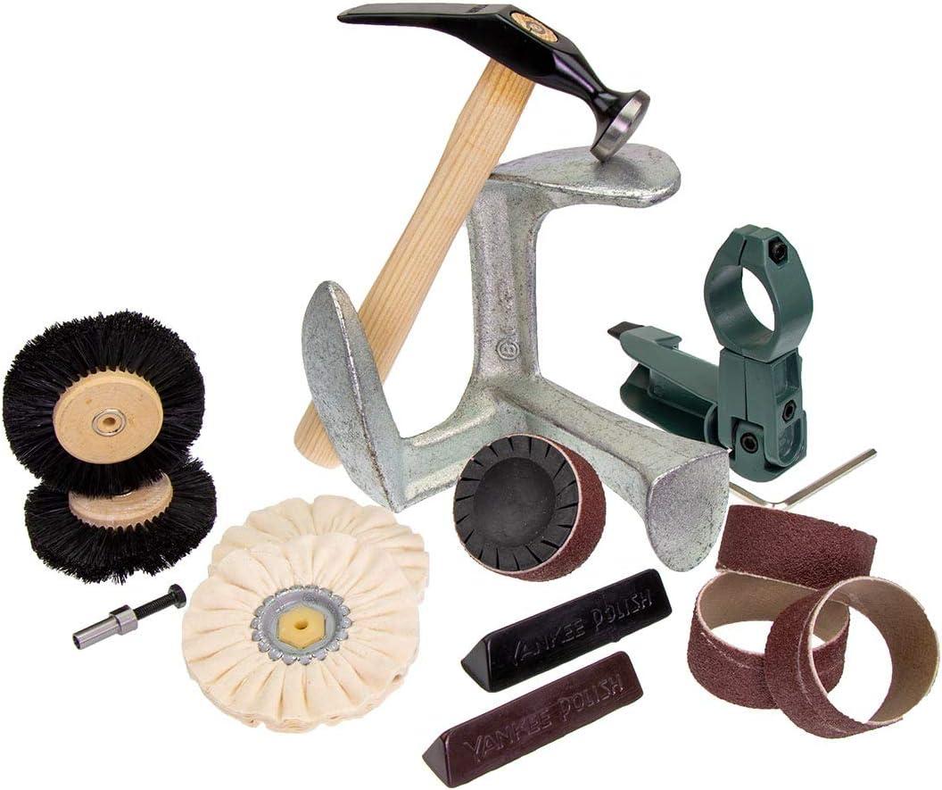 Polissage et Grincement Trousse Outil Professionnel Chaussure R/éparation by Langlauf Schuhbedarf Haute Qualit/é cordonnier outils fabriqu/é en Allemagne