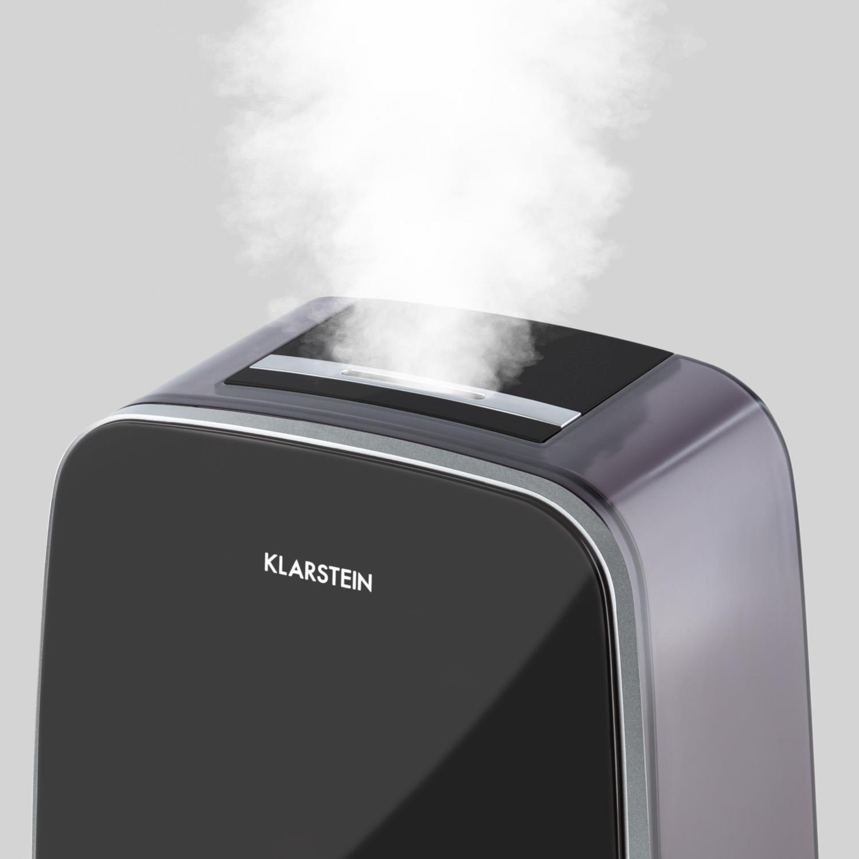 Klarstein Nibelheim /• humidificateur dair /• atomiseur /• ioniseur /• ultrasons /• r/éservoir deau 5,6 litres /• Brouillard 400 ML//h /• Pad dar/ômes /• Lampe /à UV /• minuterie /• Affichage num/&e