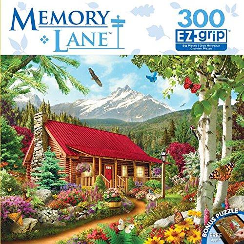 Masterpieces Memory Lane EZ Grip Book Box Mountain Hideaway Puzzle (300 Piece)