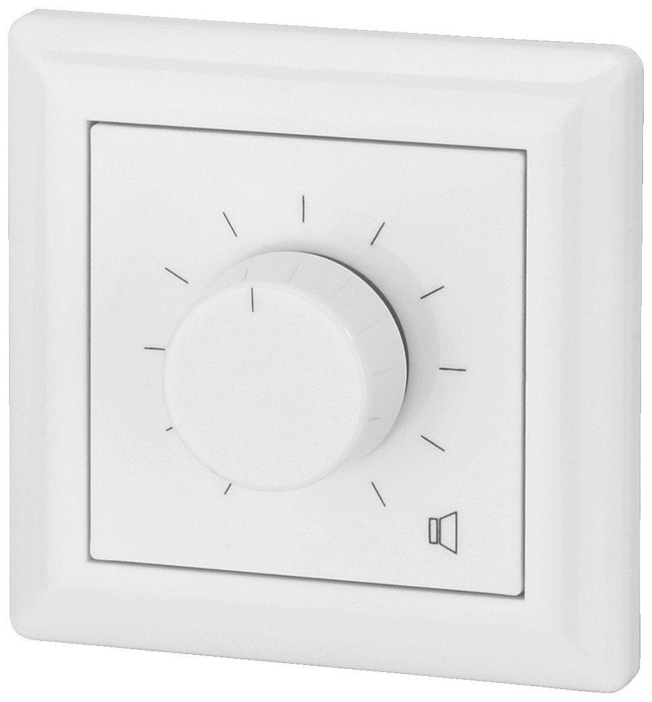 Monacor colore: Bianco con relais demergenza 24 V Manopola di controllo volume da parete 24 WRMS