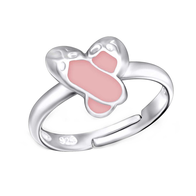 SL-Silver anello da donna ragazza balletto scarpe in argento Sterling 925, misura regolabile, in confezione regalo SL-kinderring43