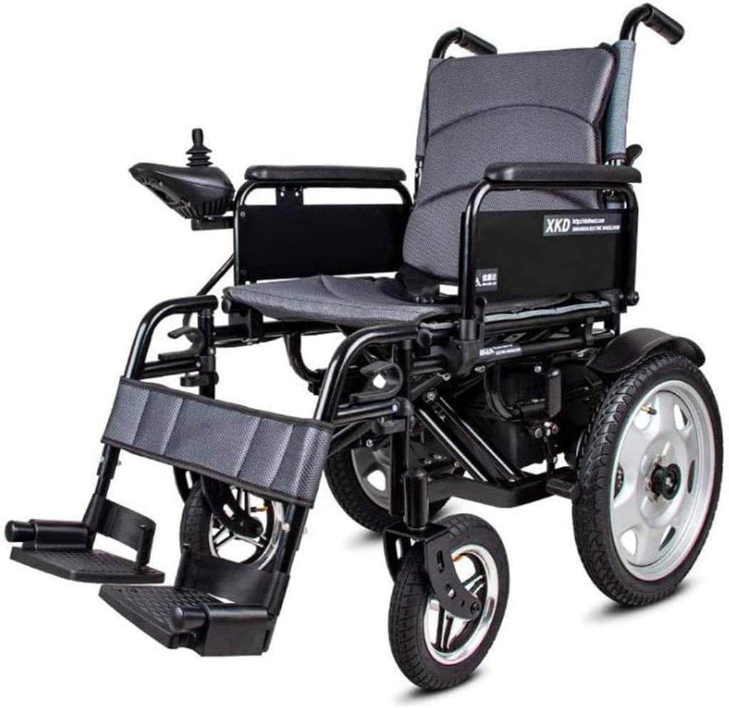 Silla de ruedas eléctrica APOAD Accionamiento eléctrico silla de ruedas plegable ligero de 16 kg, el asiento Ancho 40cm, Silla móvil, motorizado Sillas de ruedas, 360 ° Joystick, for ancianos discapac
