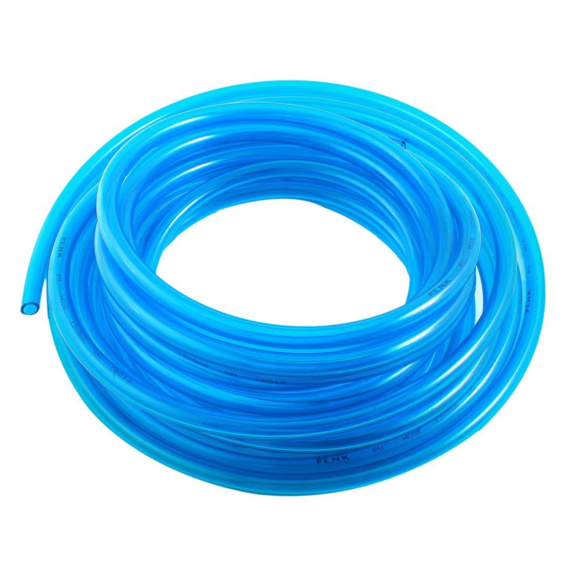 sourcingmap® Tubo Pude 33 Pies 8X12mm Compresor de Aire de Gas, Combustible, Gasolina, Diésel de Línea de Manguera Azul Claro: Amazon.es: Bricolaje y ...