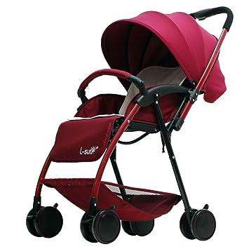 Cochecitos Qiangzi Carrito bebé Niño Carrito bebé Ultraportable Verano Plegable Puede Sentarse se Puede acostar Abajo Alto Paisaje 5kg bebé Plegable para ...