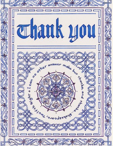 Shakespeare Thank You Notes - 8 ct