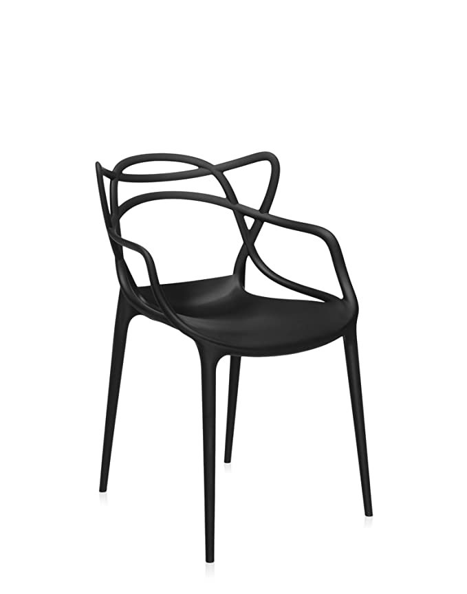 Amazon.com: Kartell Masters Chair, Pack of 2, Black: Kitchen & Dining