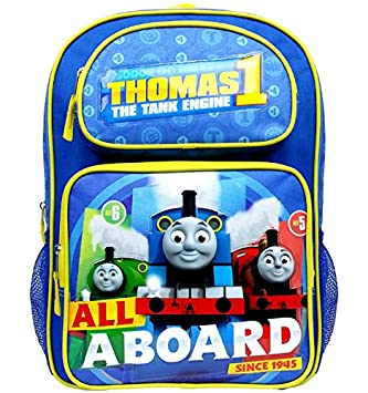 85ed5cf41b3 Backpack - Thomas The Tank Engine - All a Board Blue 16 quot  School Bag  TECF05