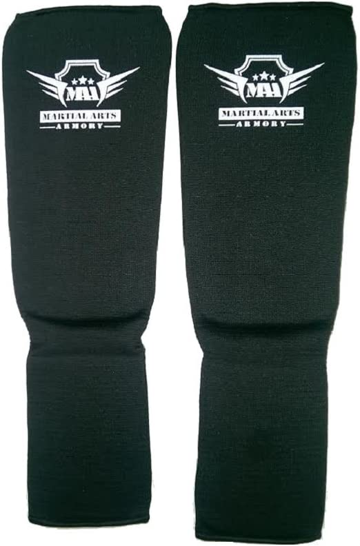 Armory MMA Shin Instep Guard Muay Thai Leg Protector Kickboxing Boxing Foot Pads