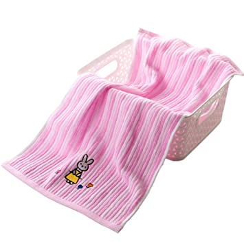 Toallas de bebé de Rayas de Dibujos Animados niños Toallas de baño niños de Conejo Toalla de niños Rojo: Amazon.es: Hogar