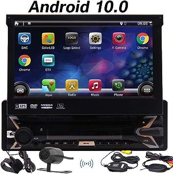 Android 10.0 estéreo de automóvil individual 1 DIN coches ...
