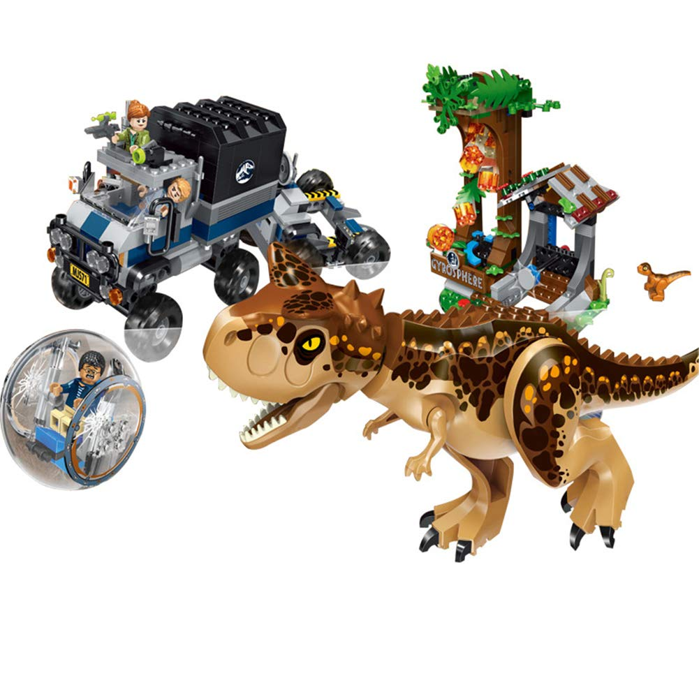 Yyz Dinosaur series dinosaurs big runaway meat cattle dragon round retreat big escape puzzle assembled building blocks toys birthday gift