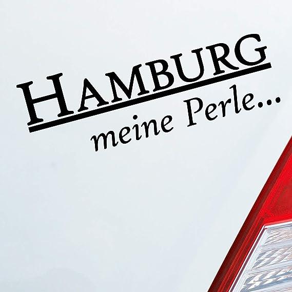 Auto Aufkleber In Deiner Wunschfarbe Hansestadt Hamburg Meine Perle Reeperbahn Pauli 18x6 Cm Autoaufkleber Sticker Auto