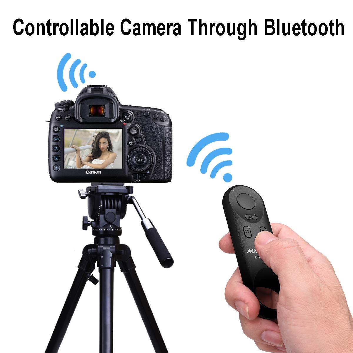AODELAN Control Remoto inal/ámbrico Controlador de c/ámara Control Remoto de Obturador inal/ámbrico BR-E1A Control Remoto para Canon EOS R 77D 6D Mark II 800D 200D EOS RP M50