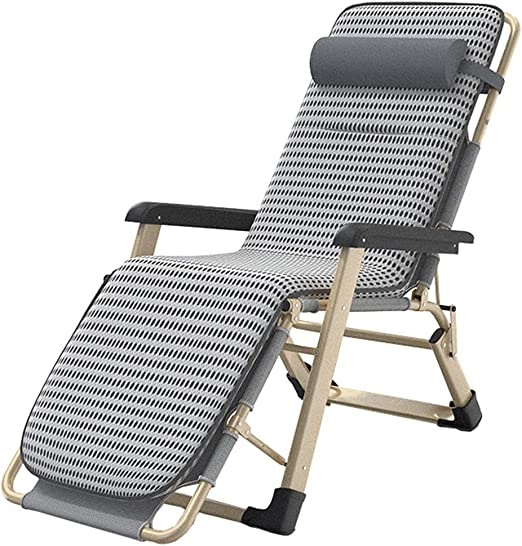 Sillón reclinable Silla hamacas Patio Salón sillones reclinables exterior gravedad cero ajustables sillas de jardín plegable de tumbona con Cojín for 330lbs Beach Patio Piscina soporte de la plataform: Amazon.es: Hogar