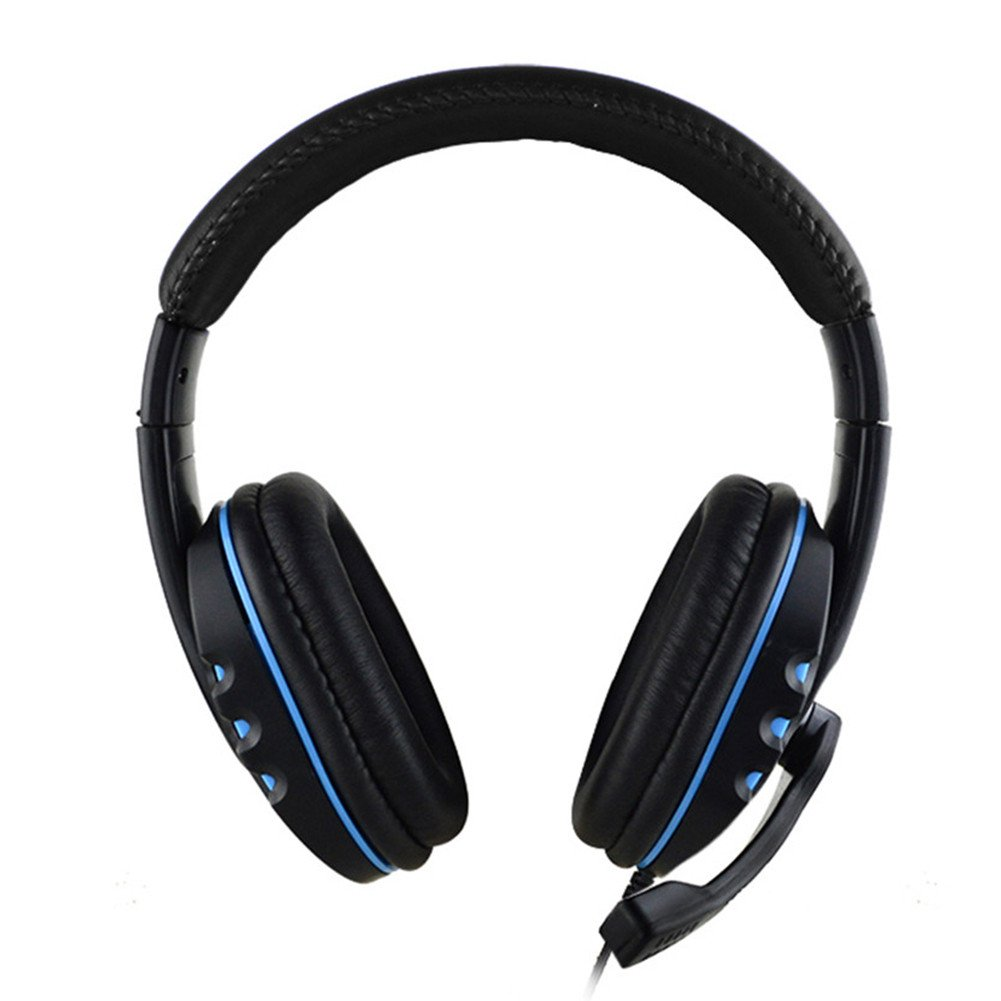 Headband Gaming Headset Comfortable Wired Over-head Stereo Headphone With Mic Microphone Noise Cancelling for PS4 PC Tablet Laptop Smartphone by US-PopTrading