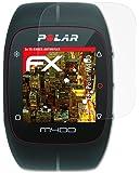 Polar M400 Anti-choc Film Protecteur - 3 x atFoliX FX-Shock-Antireflex amortisseur anti-éblouissement Anti-casse Protecteur d'écran