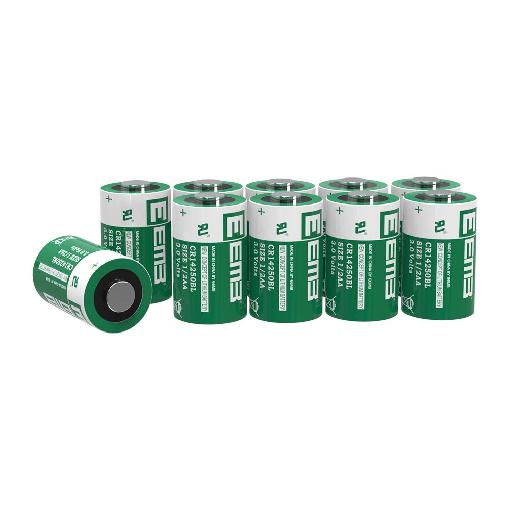 EEMB 3V 1/2 AA Lithium Batteries CR 14250 BL 900mAh Non Rechargeable Primary Battery Lithium-Mno2 Cylindrical Cell Battery UL Certified (20 Packs) by EEMB