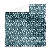 Sleepwalking Animals Flat Sheet: King Luxury Microfiber, Soft, Breathable