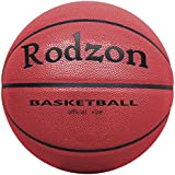 """Rodzon Basketball Outdoor/Indoor Game Basketball with Pump, Needles, Basketball Net-Official Size 7 (29.5"""") (Red)"""