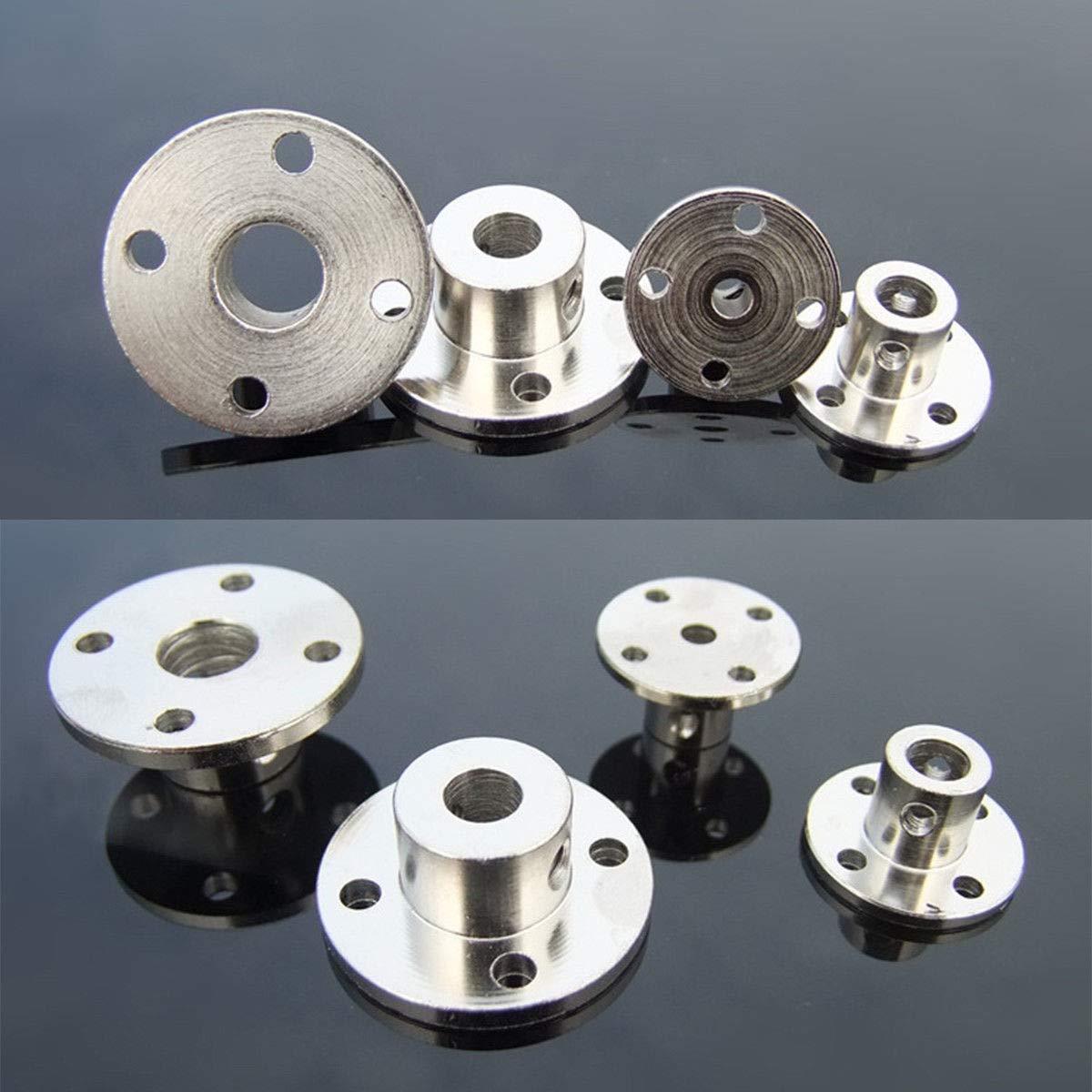 SENRISE Acoplamiento de brida 5 juegos de acoplamiento r/ígido para eje de motor conector de motor de acoplamiento para piezas de bricolaje