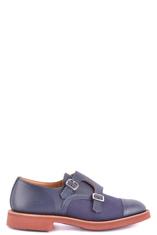Tricker's Herren MCBI298008O Blau Leder Monk-Schuhe Monk-Schuhe Leder 657b86