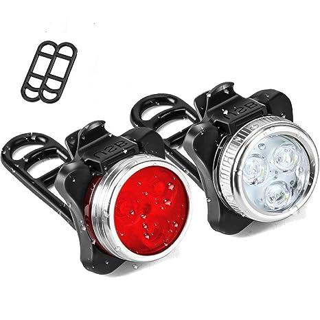 Yooger Luces Bicicleta, Recargable USB Bicicleta Lámpara Luz de ...