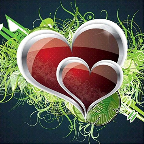 Usstore 1PC 5D DIY Heart Multicolor Art Painting Diamond Embroidery Rhinestone Diamond Painting Cross Crafts Stitch For Home Room Decoration Mural Collect (D)