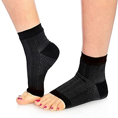 2pcs Unisex Foot Anti Fatigue Compression Sleeve Relieve Swelling varicosity Foot Angel Sock for Yoga Sport Gym Fitness Walking Running Hiking Seen On TV