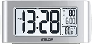 BALDR Nap Clock with Quick Set-up Digital LCD, White