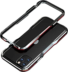 "Metal Bumper Case for iPhone 11 Pro 5.8"" Aluminum Alloy Metal Frame Shockproof Protective Case Hard Frame Armor (Black+Red, for iPhone 11 Pro 5.8"")"
