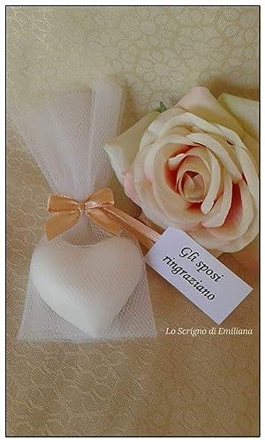 Saponette Profumate Segnaposto Matrimonio.5 Saponetta Cuore Segnaposto Bomboniera Amazon It Handmade