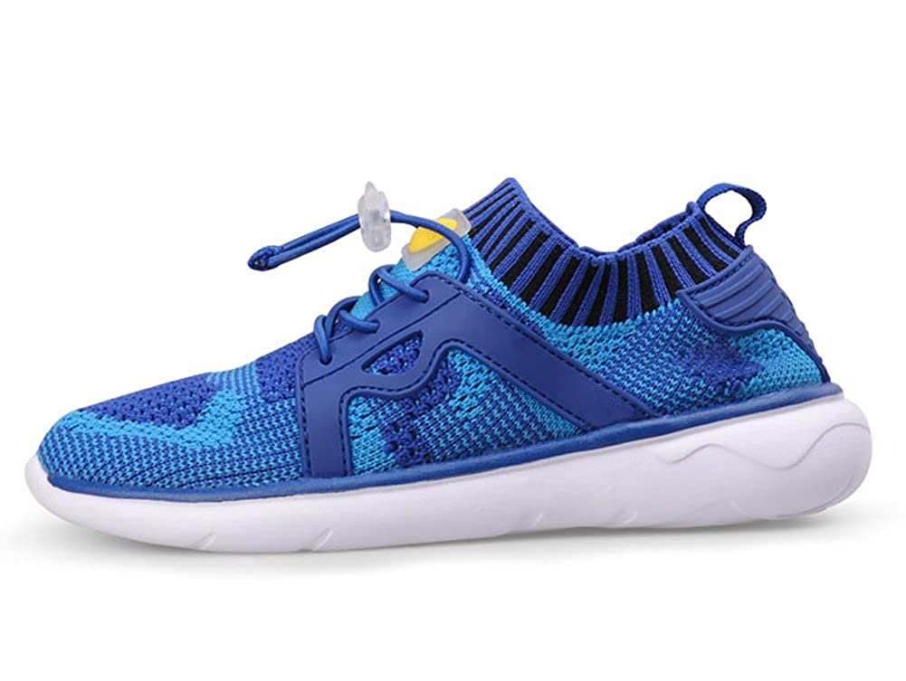 iDuoDuo Boys Girls Breathable Knit Walking Shoes Toggle Kids Running Shoes Toddler//Little Kid//Big Kid