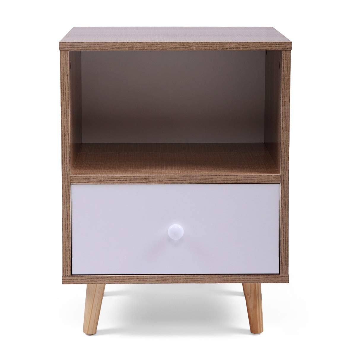 Set of 2 Night Stand 2 Layer w/Drawer Bedside End Table Organizer Bedroom by Betterhomechoice (Image #5)
