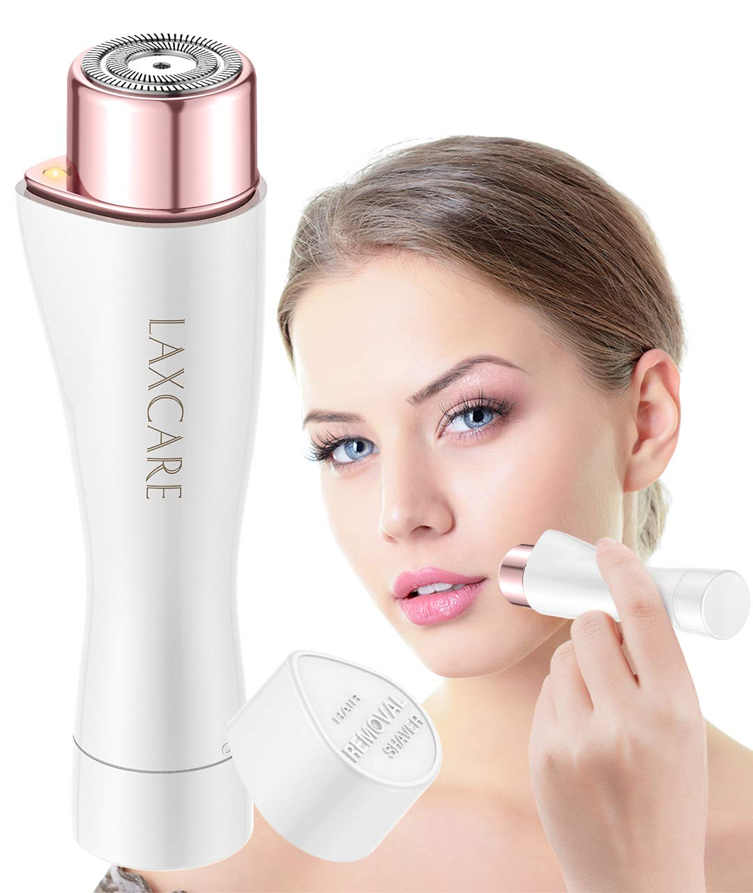 Facial Hair Removal for Women, Laxcare Painless Flawless Hair Remover Waterproof with Built-in LED Light